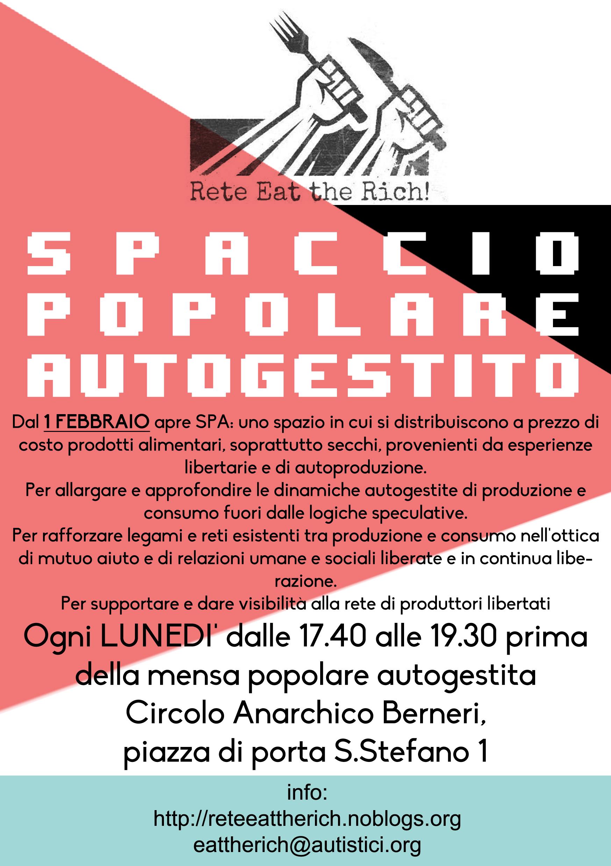 Spaccio popolare autogestito eat the rich for Spaccio cucine